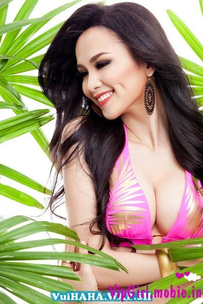 Diễm Hương mặc bikini khoe đường cong|raw