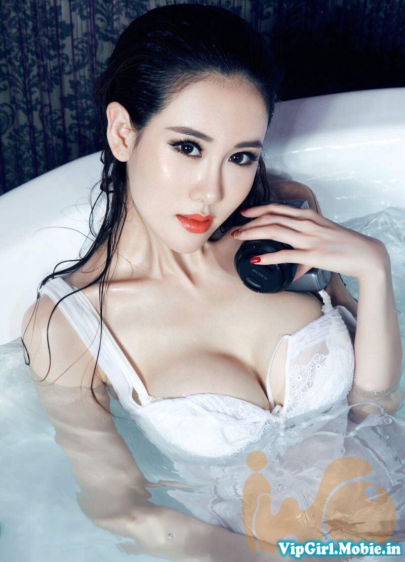 gái đẹp trung quốc Vu Vĩ Lâm khoe ngực khủng|raw