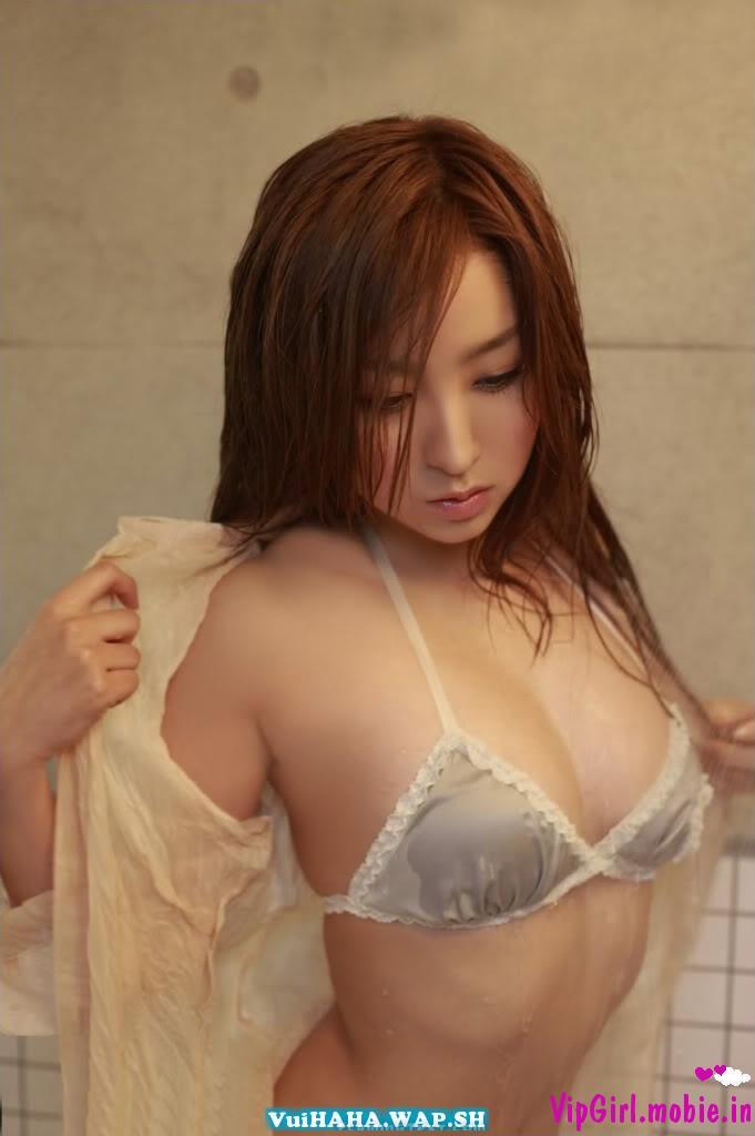 girl nhật bản bikini siêu mỏng tắm cực mát mẻ