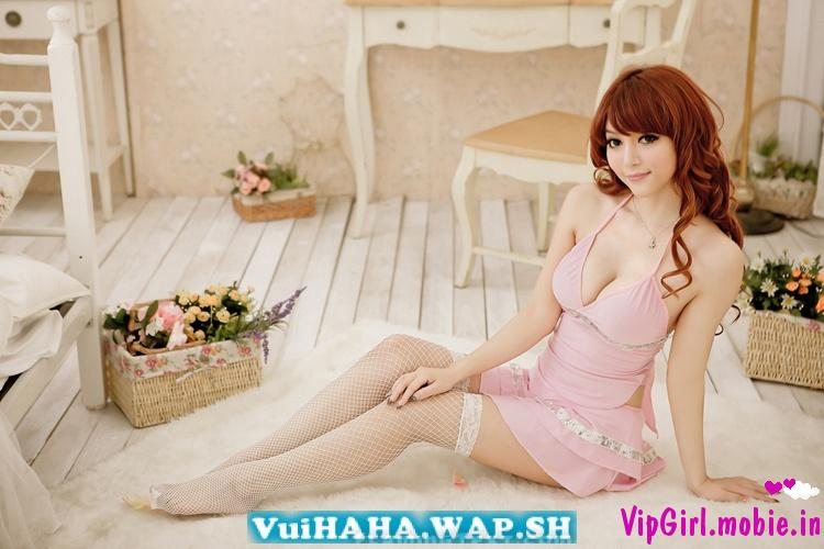 girl xinh sexy trung quốc cực gợi cảm với váy ngủ và bikini siêu mỏng p2