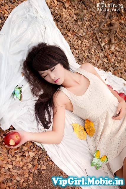 Girl xinh Việt Nam với thiên nhiên|raw
