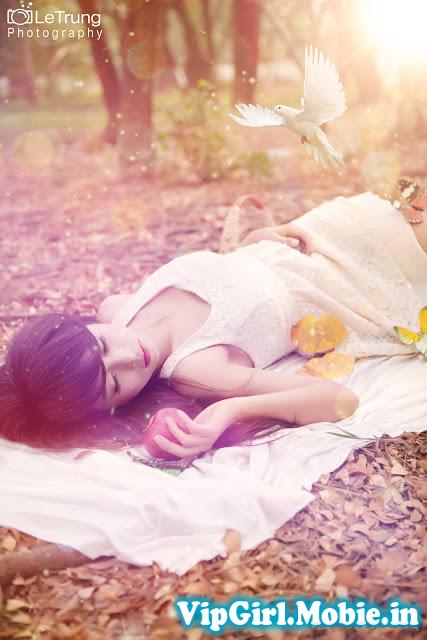 Girl xinh Việt Nam với thiên nhiên